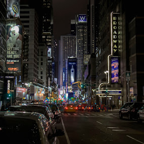 Broadway by Chip Bolcik - City,  Street & Park  Street Scenes