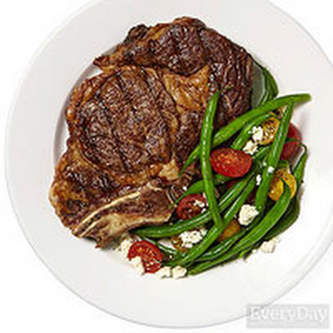 Rib Steaks With Spice Rub And Green Bean Salad Recipe — Dishmaps