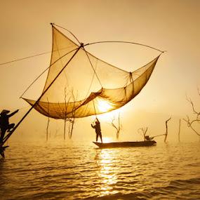 Vó Sớm by Trần Bảo Hòa - Landscapes Waterscapes