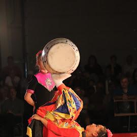 Acrobats by Roxanne Dean - People Musicians & Entertainers ( foot, acrobat, fair, circus, entertainer )