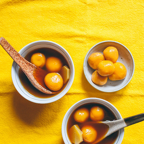 Sweet Potato Dumplings in Ginger & Jasmine Syrup (Tang Yuan)