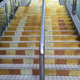 Golden Stairs by Lope Piamonte Jr - Buildings & Architecture Architectural Detail