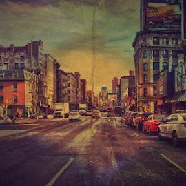 by Gordana Kojic - City,  Street & Park  Street Scenes