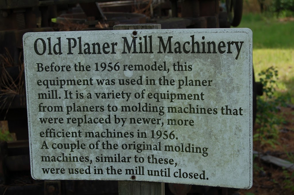 Before the 1956 remodel, this equipment was used in the planer mill. It is a variety of equipment from planers to molding machines that were replaced by newer, more efficient machines in 1956. A ...