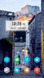 Quaint street aesthetic theme - screenshot