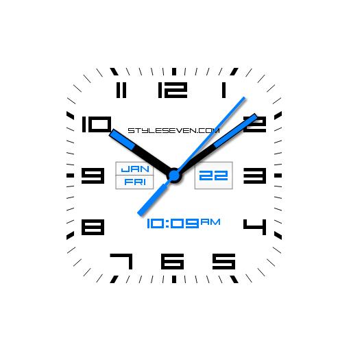 Square Analog Clock AW-7