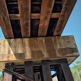 Railroad truss  by Peggy Clark - Buildings & Architecture Bridges & Suspended Structures ( trusses, railroad, rural )