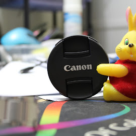Canon by Shane Quesada - Artistic Objects Toys ( canon, toy, toys, yellow, bokeh )