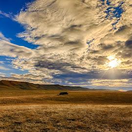 Light Shine by Kendra Perry Koski - Landscapes Prairies, Meadows & Fields ( clouds, canon, tripp county, carter, dakotawindsphoto.com, america, hdr, 2016, winner, us, south dakota, witten, landscape, rural, united states, country, march, streaks, daktawindsphoto.com, light, dakota winds photography, rural america )