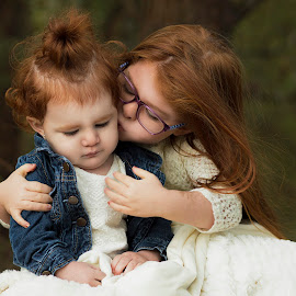 Sisters by Amber Kay - Babies & Children Children Candids ( love, sisters, fall, sister portraits, redheads )