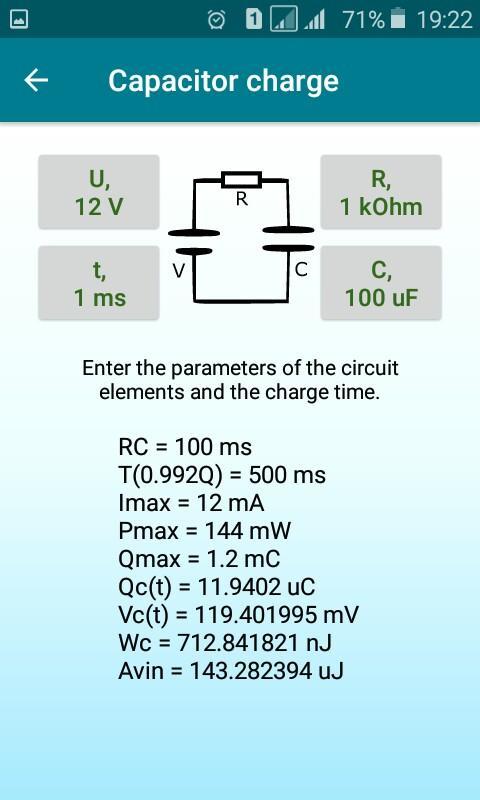 Radio components calculator Screenshot 6