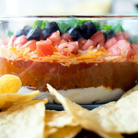 Chili Cheese 7 Layer Dip