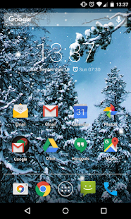 Real Snow Live Wallpaper - screenshot