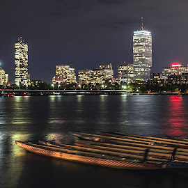 Across the Charles River by Ty Wolf - City,  Street & Park  Skylines