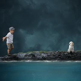 The Rescue by Frank Quax - Digital Art People ( fantasy, creative, editing, manipulation, photoshop )