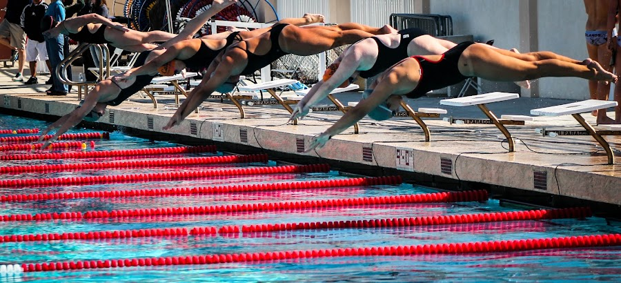 On Your Marks, Get Set, Go! by Jay Woolwine Photography - Sports & Fitness Swimming ( water, swim, action, swimming, swimmer )