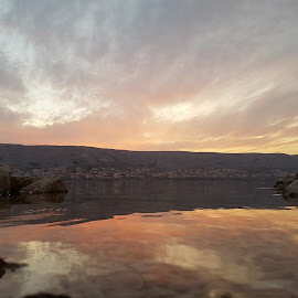 sunset on by Ivan Majić - Nature Up Close Water ( winter, sunset, croatia, sea, night )