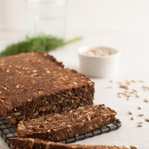 Pumpernickel Nut and Seed Bread (Vegan, Paleo, Gluten Free)