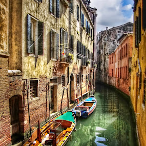 Done for the day by Michael Rupp - Transportation Boats ( water, boats, venice, italy )