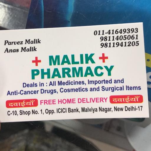 Malik Pharmacy, Malviya Nagar, Malviya Nagar logo
