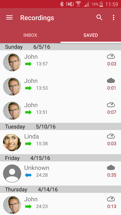 Automatic Call Recorder Pro Screenshot