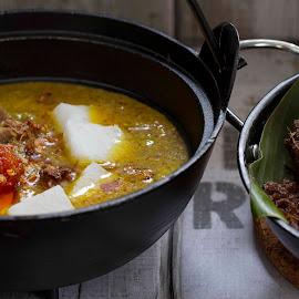 Lontong Gulai Nangka Padang by Ummi Noviziah - Food & Drink Cooking & Baking ( #padang, #traditionalfood, #eid, #indonesia, #indonesianfood )