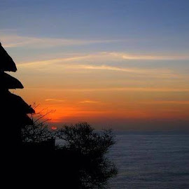 Uluwatu,Bali,at sunset by Anjana Chakraborti - Landscapes Travel