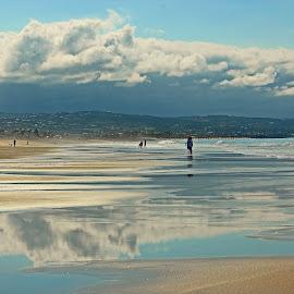 Low Tide Reflections by Jeannine Jones - Landscapes Beaches