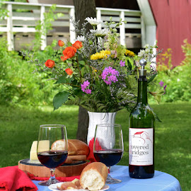 Romantic Afternoon by Greg Harrison - Food & Drink Alcohol & Drinks ( iowa wine, madison county iowa, madison county covered bridges, cedar bridge, madison county wine )