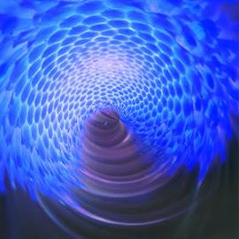 Blue Fantasy by Virginia Howerton - Digital Art Abstract
