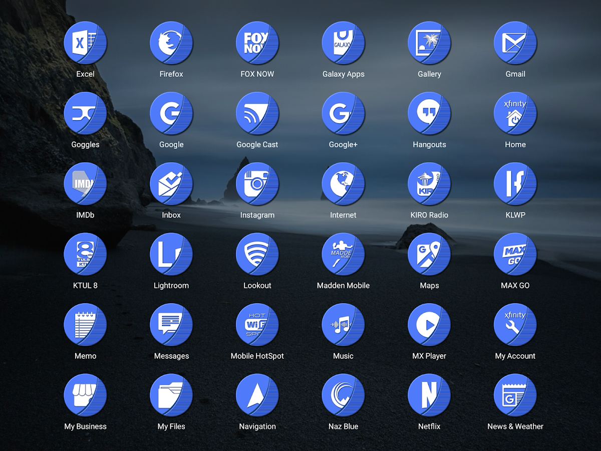 Naz Blue - Icon Pack Screenshot 10