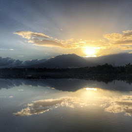 Sunrise by Maria Lourdes Josefina Piamonte - Novices Only Landscapes ( #sunrise )