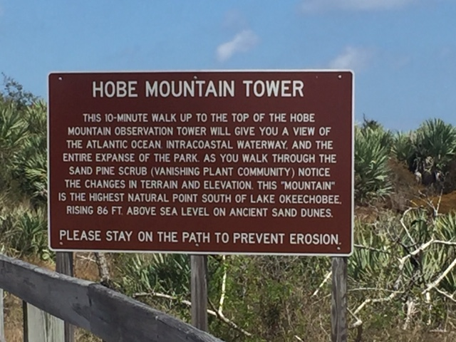 HOBE MOUNTAIN TOWER  THIS 10-MINUTE WALK UP TO THE TOP OF THE HOBE  THE ATLANTIC OCEAN INTRACOASTAL WATERWAY AND THE  MOUNTAIN OBSERVATION TOWER WILL GIVE YOU A VIEW OF IA  ENTIRE EXPANSE OF THE PARK ...