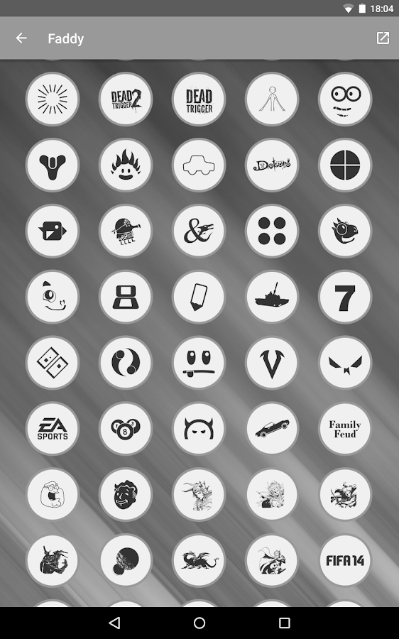 Faddy - Icon Pack Screenshot 9