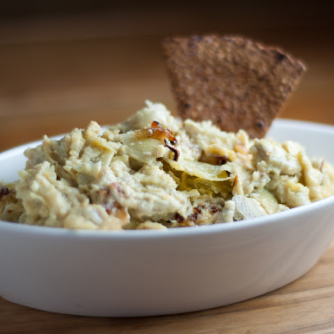 Vegan Pine Nut Cheese Artichoke Dip