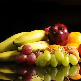 Bananas, grapes and other fruits by Cristobal Garciaferro Rubio - Food & Drink Fruits & Vegetables ( orange, banana, grapes, grape, apple, green grapes )