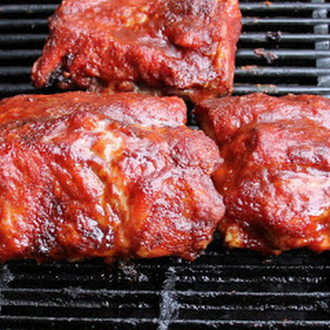 Babybacks with Bourbon Maple Barbecue Sauce