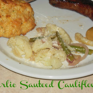 Garlic Sauteed Cauliflower & Green Beans