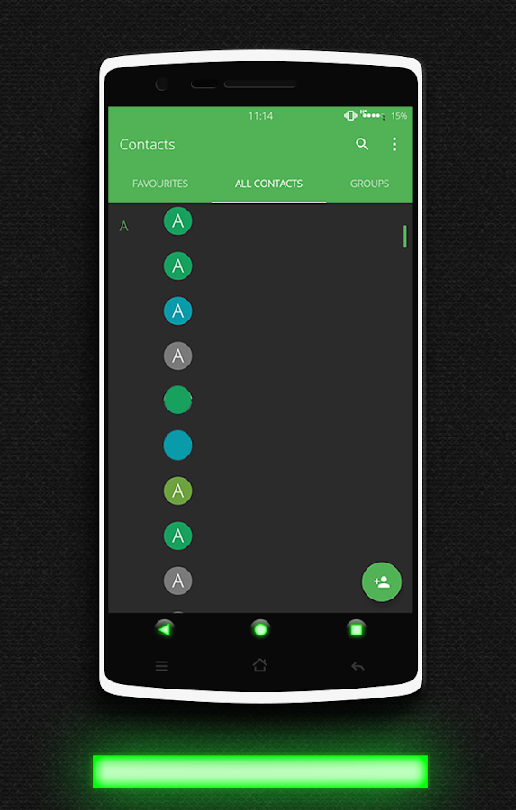 Glow Green CM13 CM12.x Theme Screenshot 7
