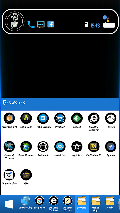 Mini Windows Taskbar Screenshot 3