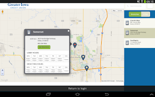 Screenshot of Greater Iowa Mobile Banking