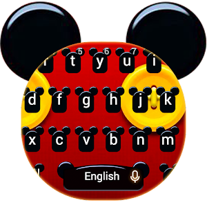 Download Cute Micky Bowknot Keyboard Theme for Android - Free Personalization App for Android
