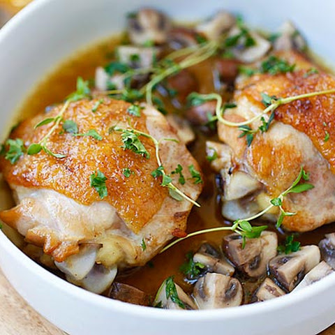Chicken with Sautéed Mushroom
