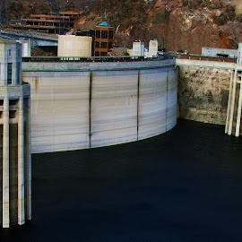 Hoover Dam by Abbey Gatto - Buildings & Architecture Other Exteriors ( hoover dam, nevada, arizona, dam, architecture )
