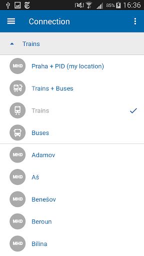 Czech Public Transport IDOS - screenshot