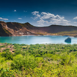 Volcanic Vegetation by Ynon Francisco - Landscapes Travel ( crater, volcano, vegetations, lake, taal, philippines )