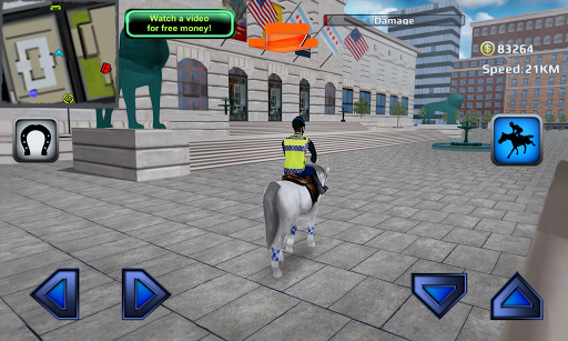 3D Police Horse Racing Extreme - screenshot