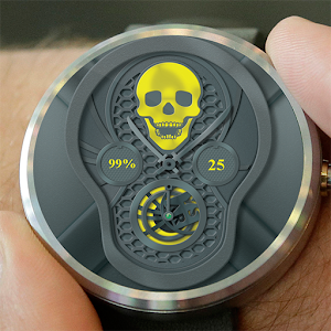 Skull Face Watch Face