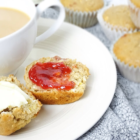 Oatmeal Strawberry Jam Breakfast Muffins