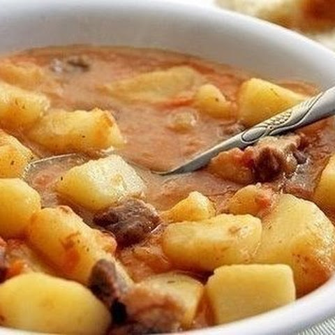 Potatoes, Stewed With Meat
